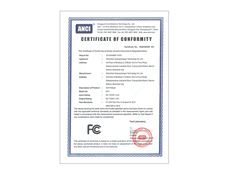 18AE04066F 001 FCC Cert
