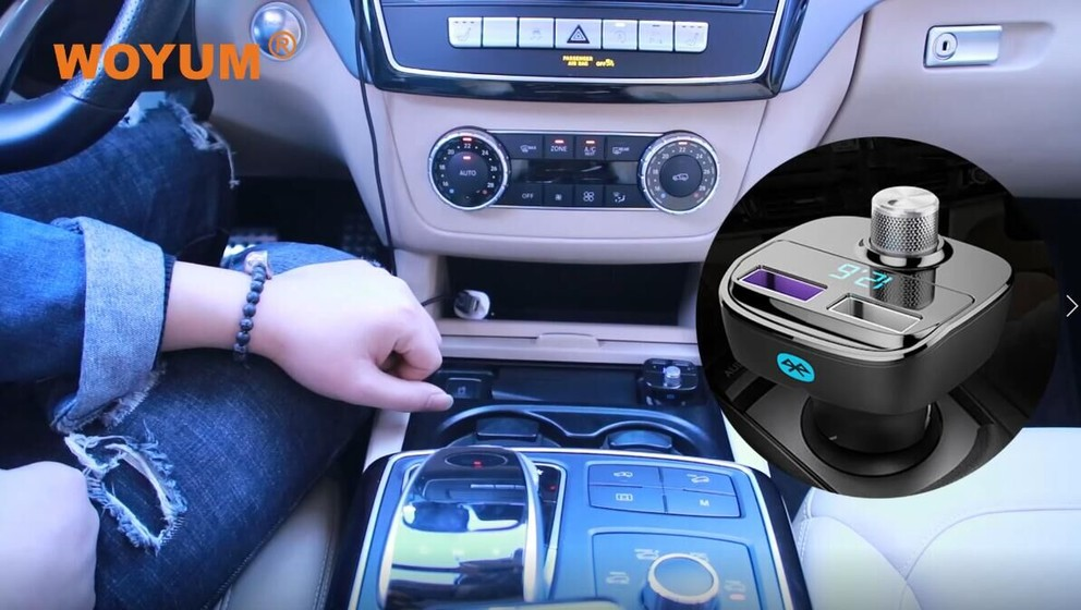 2-Port USB Car Charger Compatible with Car Music MP3, U-disk, TF Card,Bluetooth hands free, voice navigation playing~2